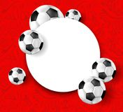 Czerwony Rosja 2018 pucharów świata futbolu tło Fotografia Stock
