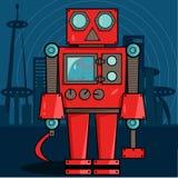 Czerwony Rosyjski robot Zdjęcie Royalty Free