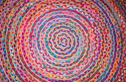 Czerwony round dywan Fotografia Royalty Free