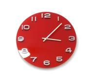 Czerwony round zegar Fotografia Royalty Free