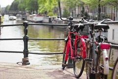 czerwony rowerów Fotografia Stock