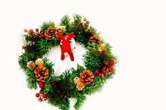Czerwony Rudolph kochany z dużymi poroże obraz royalty free