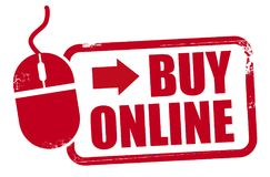 Czerwony rupper znaczka zakup online ilustracja wektor