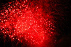 Czerwony salut w ciemnym niebie Obrazy Royalty Free