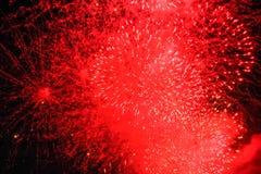 Czerwony salut w niebie Zdjęcia Stock