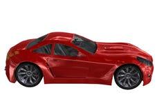 Czerwony samochód Fotografia Royalty Free