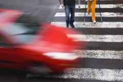 czerwony samochód Obraz Stock