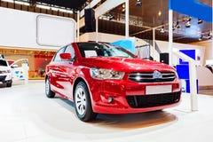 Czerwony samochód - Citroen Elysee Zdjęcie Stock