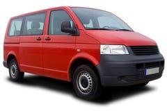czerwony samochód dostawczy