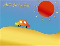 Czerwony samochód na słonecznym dniu Fotografia Royalty Free