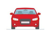 Czerwony samochód Odizolowywający na Białym tle Obraz Royalty Free