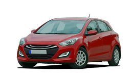Czerwony samochód osobowy Zdjęcie Stock