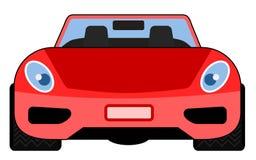 czerwony samochód przednie strony widok Obraz Royalty Free