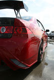 czerwony samochód sportu Obrazy Stock
