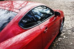 czerwony samochód sportu Fotografia Royalty Free