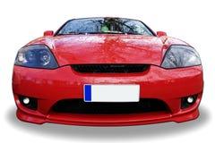 czerwony samochód sportu Obrazy Royalty Free