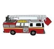 Czerwony samochód strażacki z drabiną Zdjęcie Stock