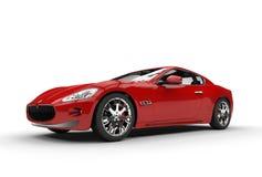 Czerwony samochód - Tylny widok obraz royalty free