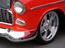 czerwony samochód z antykami Obrazy Royalty Free