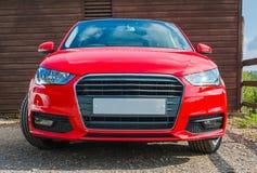 Czerwony samochód Zdjęcia Royalty Free