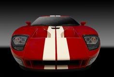 czerwony samochód amerykańskie sporty Fotografia Royalty Free