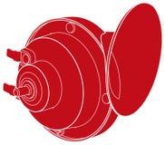 Czerwony samochodowego rogu znak Ilustracji