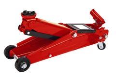 Czerwony samochodowy Podłogowy Jack Obraz Royalty Free