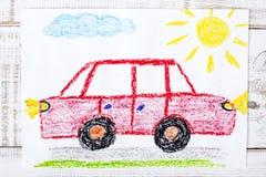 czerwony samochodowy rysunek royalty ilustracja
