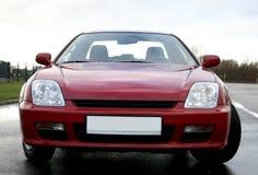 Czerwony samochodu przód obrazy stock