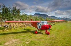 Czerwony samolot Fotografia Royalty Free