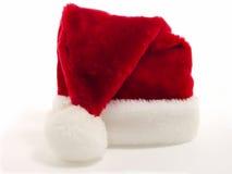 czerwony Santa biały kapelusz fotografia stock