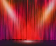 Czerwony sceny światła reflektorów tło Obrazy Royalty Free
