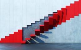Czerwony schodków prowadzić oddolny fotografia royalty free