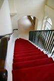 Czerwony Schodowy dywan Zdjęcia Royalty Free