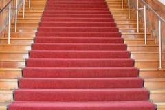 Czerwony schody up Fotografia Royalty Free