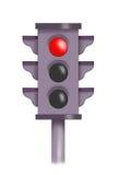 czerwony semafor Zdjęcie Stock