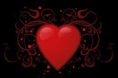 czerwony serca royalty ilustracja