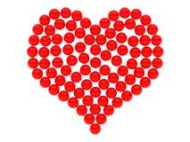 czerwony serca Zdjęcie Stock