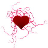 czerwony serca ilustracja wektor