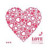 Czerwony serca kartka z pozdrowieniami Fotografia Stock