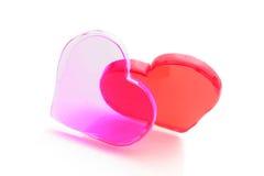 czerwony serca pojęcie miłości Zdjęcia Stock