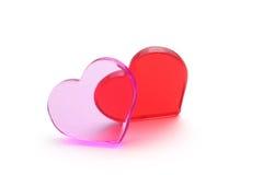czerwony serca pojęcie miłości Zdjęcie Royalty Free