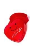 Czerwony serca pudełko Obraz Stock