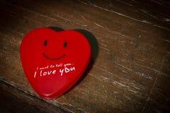 Czerwony serca pudełko Zdjęcia Stock