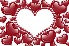 Czerwony serca tło Zdjęcia Stock