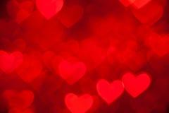 Czerwony serca tło Zdjęcie Stock