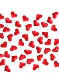 Czerwony serca tło na bielu Obraz Stock