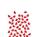 Czerwony serca tło na bielu Zdjęcie Stock