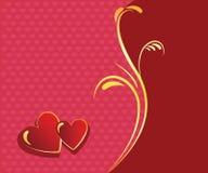 Czerwony serca valentine tło Fotografia Stock