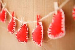 Czerwony serca zakończenie up Fotografia Stock